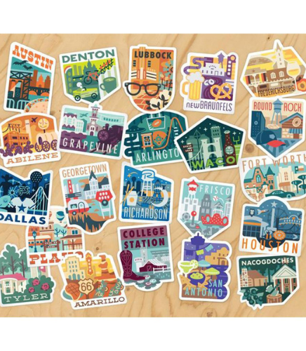 texas stickers - plano gift guide 2020